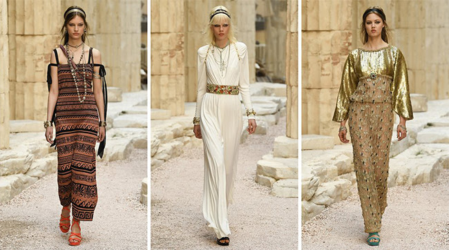 Ancient Greece lands in Paris for Chanel 2018 resort collection