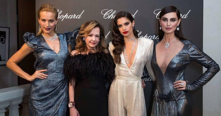 Dinner by Caroline Scheufele with Sara Sampaio, Isabelle Huppert, Petra Nemcova and Catrinel Marlon as guests