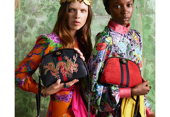 The new Gucci Ophidia embroidered bag